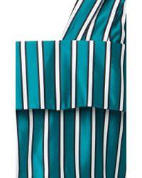 Self-Portrait - Blue Asymmetric Peplum Top - Lyst