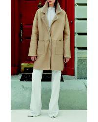 Genny - Natural Fur Lined Coat - Lyst