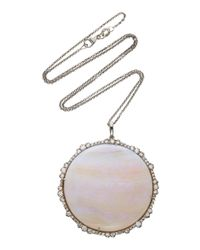 Kimberly Mcdonald - One-of-a-kind Large Brazilian Opal Pendant With Signature Irregular Diamonds Set In 18k White Gold With Black Rhodium - Lyst
