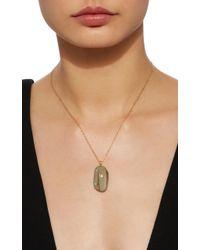 Cvc Stones - Metallic Cesna 18k Gold, Beach Stone And Diamond Necklace - Lyst