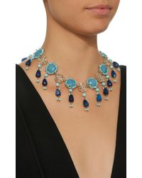 Rosantica - Blue Gold-tone Brass Turquoise Necklace - Lyst