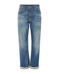R13 | Blue Catherine High Rise Boyfriend Jeans | Lyst