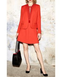 Paule Ka - Red A Line Skirt With Tonal Piping - Lyst