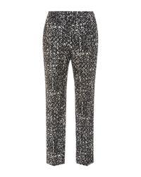 Paule Ka - Black Printed Pants - Lyst