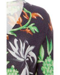 Tata Naka - Black Floral Print V-neck Jumper - Lyst
