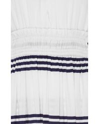 Apiece Apart - Blue Lippard Striped Dress With Tassels - Lyst