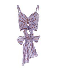 Johanna Ortiz - Purple Violetta Twisted Cropped Top - Lyst