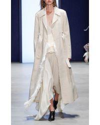 Derek Lam - White Silk Peplum Tiered Dress - Lyst