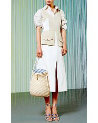 Tanya Taylor - Gray Chino Cotton Remi Dress - Lyst