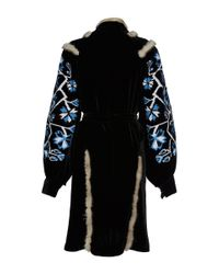 MARCH11 - Blue Aliona Mini Velvet Wrap Dress - Lyst
