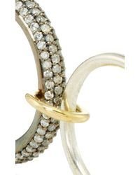 Spinelli Kilcollin - Metallic 18k Yellow Gold And Silver Nexus Five Linked Ring - Lyst