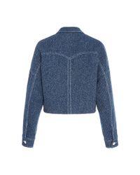 Rosetta Getty - Blue Cropped Indigo Tweed Western Jacket - Lyst