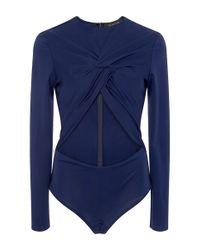 Thakoon | Blue Twist Front Bodysuit | Lyst