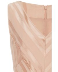 Paule Ka - Natural Pleated Printed Gown - Lyst