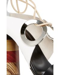 Proenza Schouler - Natural Grommet Tie Up Sandals - Lyst
