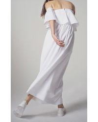 Paper London - White Oria Dress - Lyst