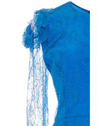 Preen By Thornton Bregazzi - Blue Amilna Lace Sleeved Dress - Lyst