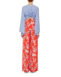 Rosie Assoulin - Blue Bell Sleeved Crop Top - Lyst