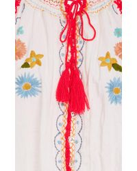 CELIA B White Saffron Long-sleeve Top