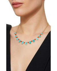 Katherine Jetter - Blue One-of-a-kind Turquoise And Fire Opal Necklace - Lyst