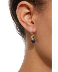 Daria de Koning - Purple Dagny 18k Gold Multi-stone Drop Cluster Earrings - Lyst