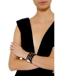 Ashley Pittman - Brown Ufalme Dark Horn And Multi-stone Cuff - Lyst