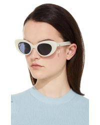 Pared Eyewear - White M'o Exclusive Poms & Pared Acetate Cat-eye Sunglasses - Lyst