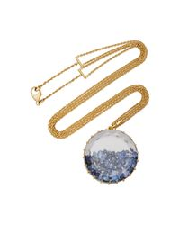 Renee Lewis | Blue 18k Gold Sapphire Shake Necklace | Lyst