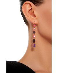 Renee Lewis - Pink 18k Gold Multi-stone Drop Earrings - Lyst