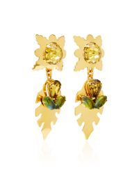 Nicole Romano - Metallic Covell 18k Gold-plated Leaf Earrings - Lyst