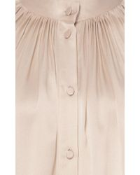 Co. - White Crepe Back Satin Peasant Blouse - Lyst