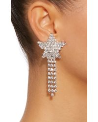 Jennifer Behr - White Shooting Star Gunmetal-plated Swarovski Crystal Earrings - Lyst
