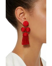 Rebecca de Ravenel - Red Cha Cha Tassel Short Earrings - Lyst