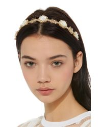 Rosantica - Metallic Corte Gold-tone Brass And Pearl Headband - Lyst
