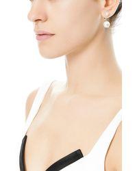 Delfina Delettrez | White Double Pearl Single Earring | Lyst
