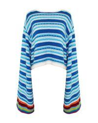 All Things Mochi - Blue Pandora Cotton Crochet Sweater - Lyst