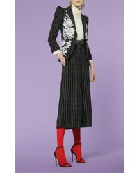 Andrew Gn - Black Pinstripe Trousers - Lyst