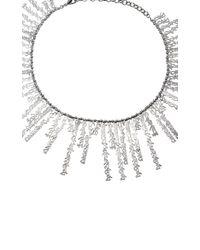 Fallon - Metallic Hieroglyph Silver-tone Collar Necklace - Lyst