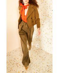 Ulla Johnson Green Rhodes High Waisted Trouser