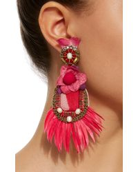 Ranjana Khan - Pink Feather Earrings - Lyst