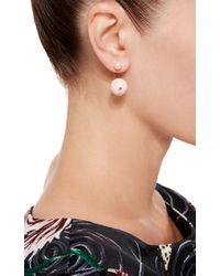 Delfina Delettrez | Metallic 18k Gold Stone Edge Pierced Earring | Lyst