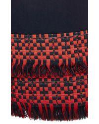 ADEAM - Blue Cotton Silk Wide Leg Fringed Pants - Lyst
