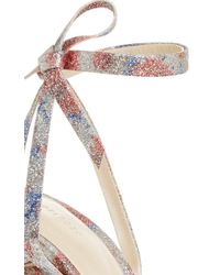 Delpozo | Natural Metallic Printed High Sandal | Lyst