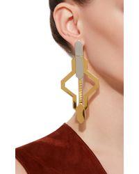 Monica Sordo - Blue Daphnis Oversized Cut Out Earrings - Lyst