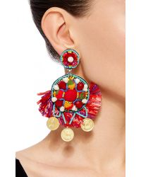 Ranjana Khan - Multicolor Beaded Embellishment Earrings - Lyst
