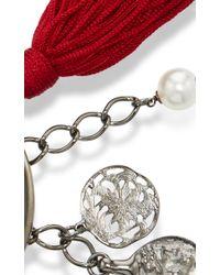 Oscar de la Renta - Red Tassel Charm Bracelet - Lyst