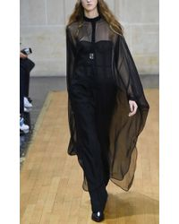 Veronique Branquinho Black Sheer Caftan Dress