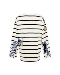 Swash London - White Meoldy Obsidian Patched Marinier Top - Lyst