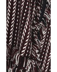 Burberry Brown Knit Jacquard Blanket Cape
