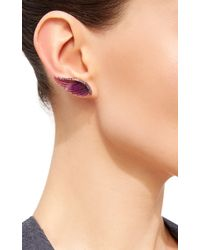 Noor Fares - Purple Amethyst Wing Earrings - Lyst